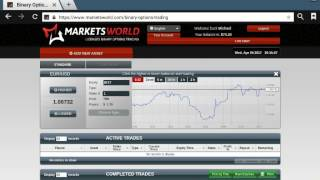 Markets World - Binary Options Live Cash Trading Part 8