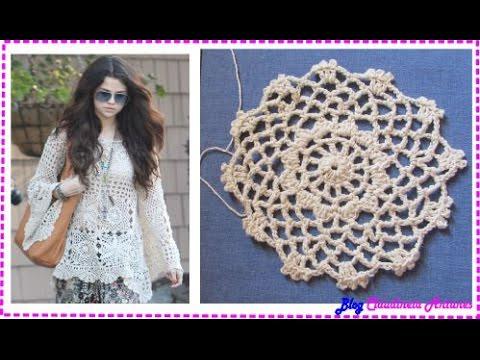 Blusa em Croche Selena Gomez - Aula1-  Motivo 1