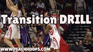 Basketball Transition Drill ( 30 Second drill )