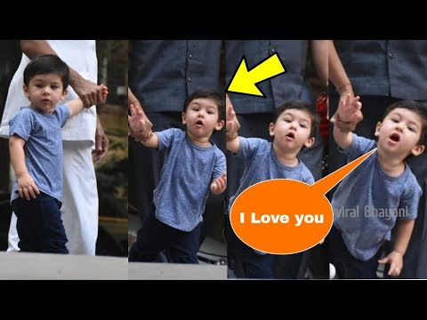 Taimur Ali Khan so cute on saying 'I Love You' to media with his lovely voice