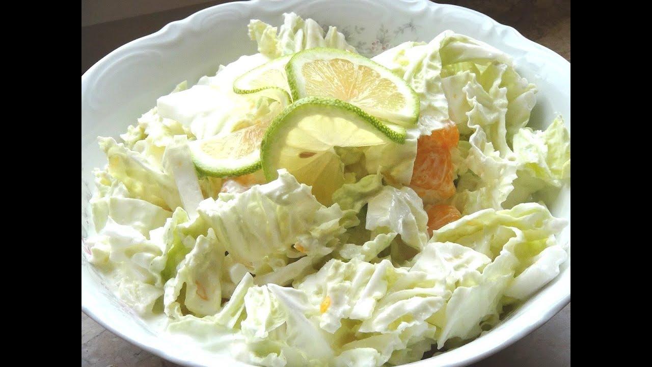 Chinakohl Salat Mit Mandarinen