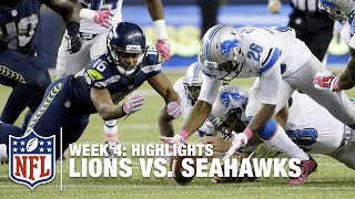 Lions vs. Seahawks | Week 4 Highlights | NFL