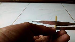 Video tutorial cara membuat umpan pancing dari karet pentil dan karet gelang, cara memancingnya #3