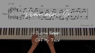 Justin Bieber - Off My Face / Piano Cover / Sheet