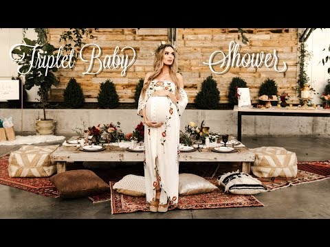 The most BEAUTIFUL TRIPLET BABY SHOWER  FLORAL BOHEMIAN THEME