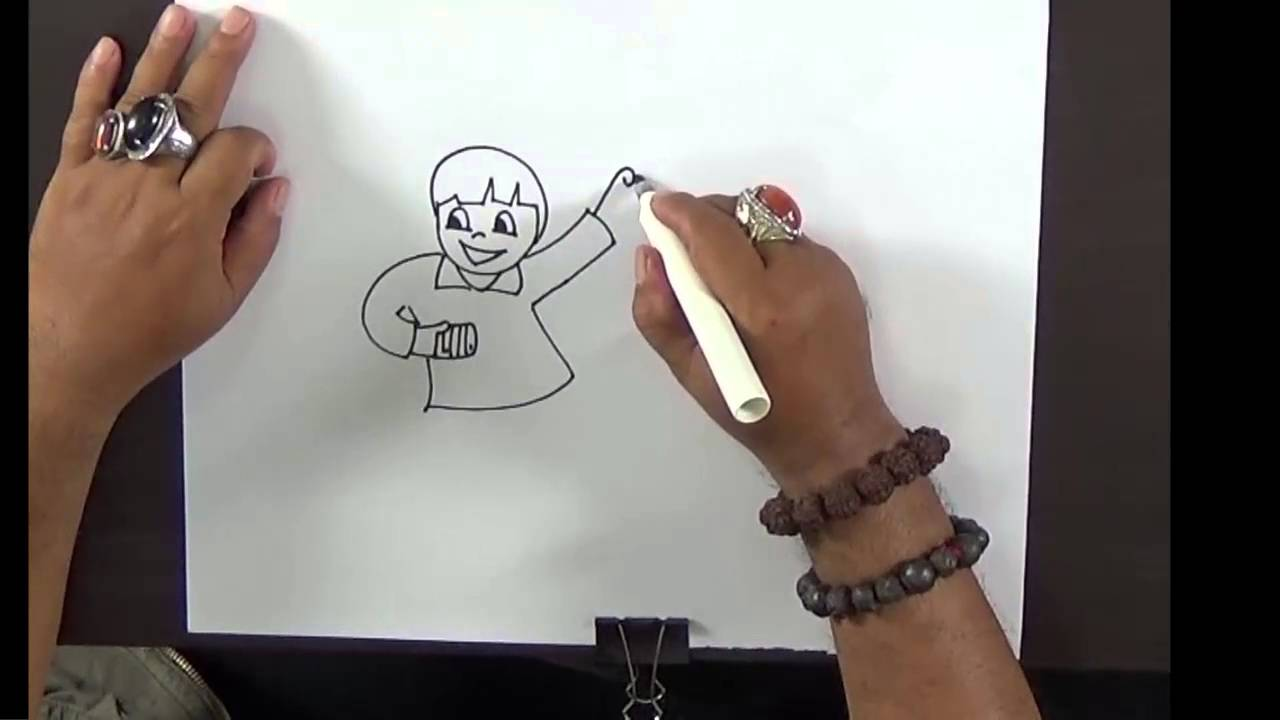 Simple Drawing For Kids Children Flying Kites With Mr Mj Youtube