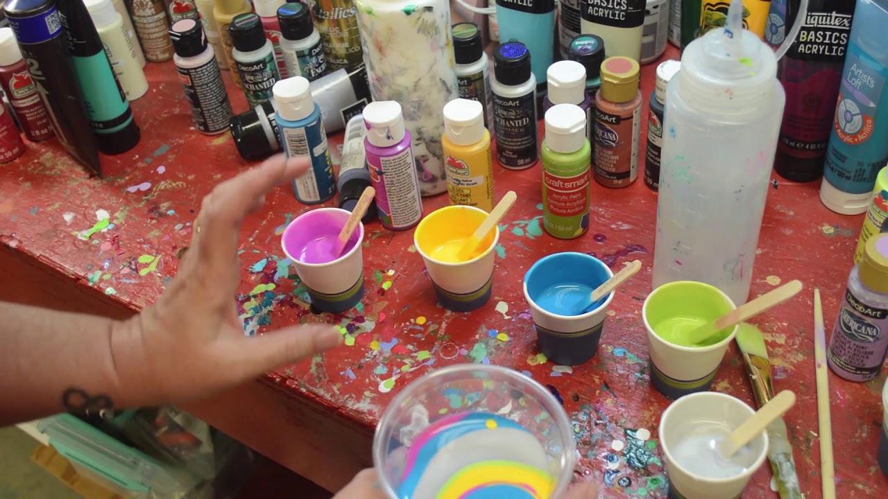 Beginner Acrylic Paint Pour Tutorial - YouTube