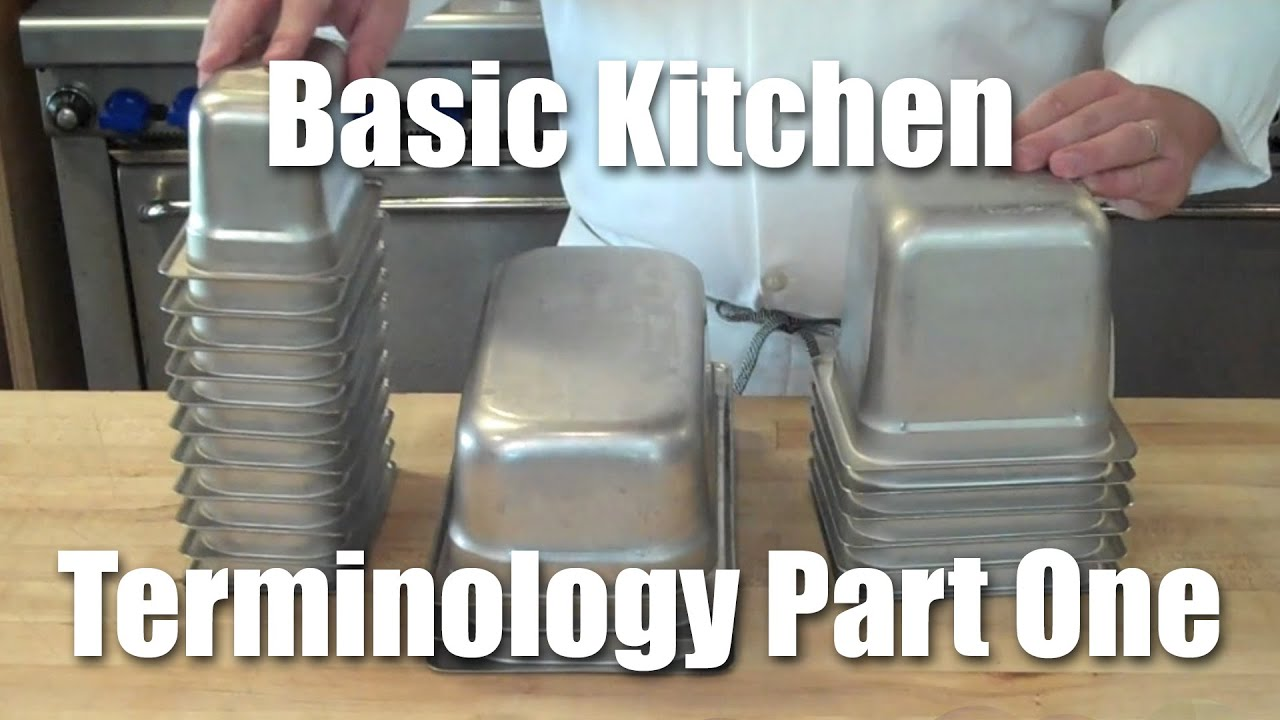 Restaurant Kitchen Jargon kitchen terminology part one: service pans - youtube