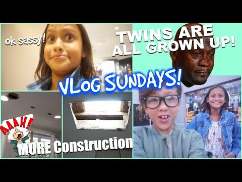 Vlog Sundays  Twins are GROWN😭 TWINCAM More Construction EP4