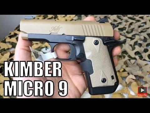 Kimber USA Micro 9mm Desert Tan Crimson Trace Laser Compact 1911 Style  Pistol