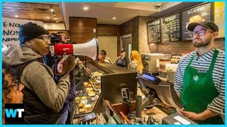 Is Starbucks Racist? Protesters Shut Down Store Where Black Men Arrested | What