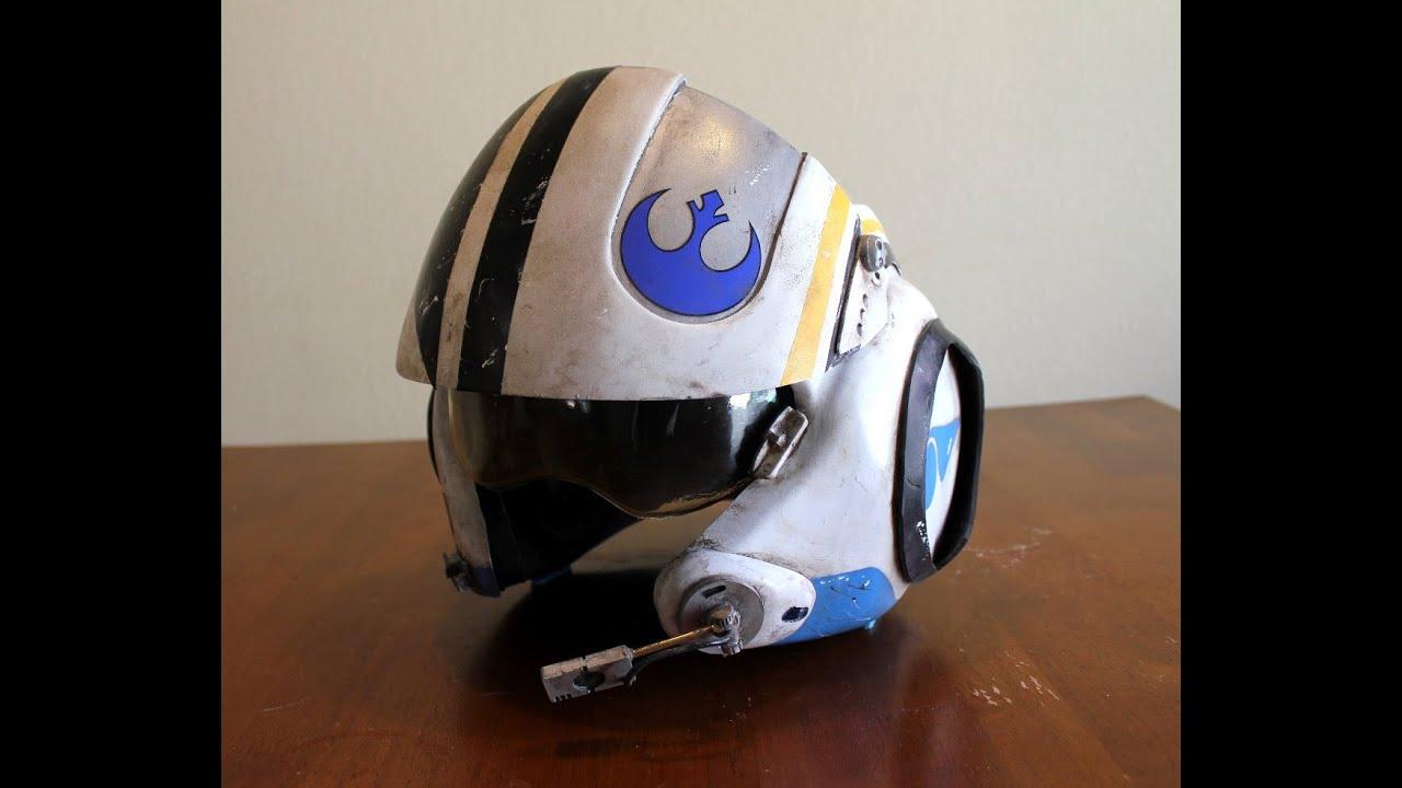 The Force Awakens Blue Leader Mark 3 Show Off Reel Prop Helmet Youtube