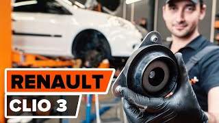 How to replace Brake shoe set on RENAULT CLIO III (BR0/1, CR0/1) - video tutorial