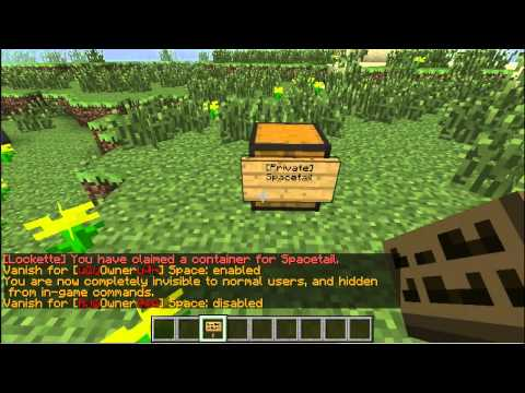 Minecraft: Lockette Tutorial - 1.7.8+