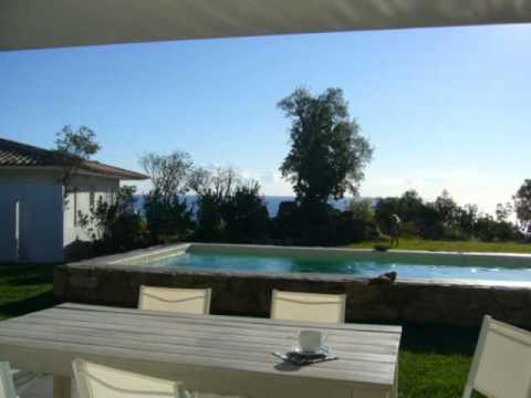 locations de villas en corse en bord de mer avec piscine location de maison de vacances en. Black Bedroom Furniture Sets. Home Design Ideas