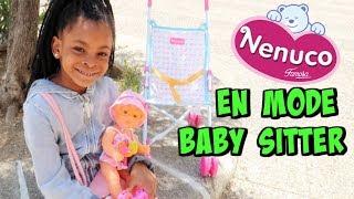 MAELLIA DEVIENT BABY SITTER , Kid pretend play babysitting Nenuco doll