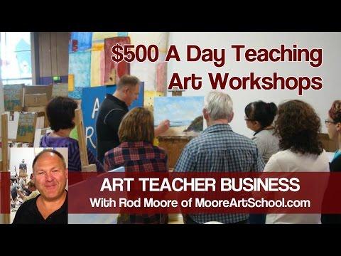 Art Teacher Business - $500 A Day Teaching Art Workshops VLOG 3 #MooreMethod