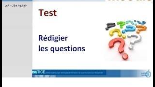 Moodle : Créer les questions du test - QCM à choix unique et Mot manquant