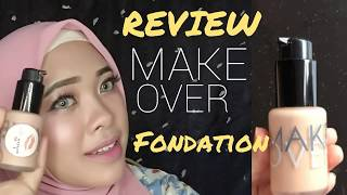 [REVIEW] MAKEOVER FOUNDATION Ultra Cover Liquid Matte & Demo | by Vapinka Makeup