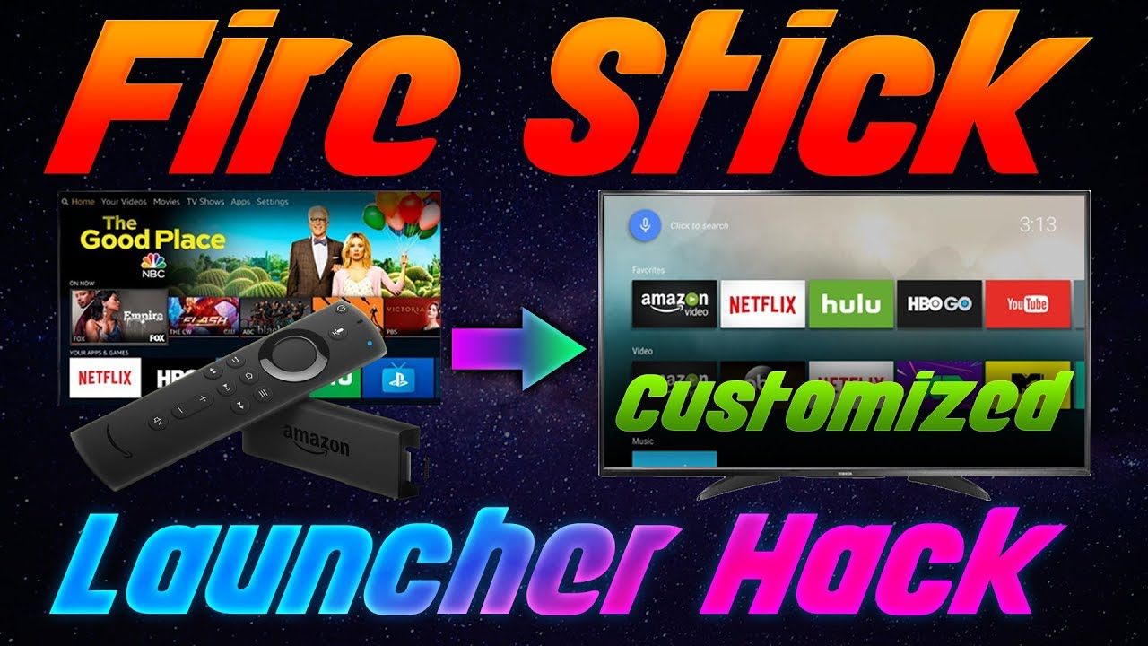 🔴AMAZON FIRESTICK/TV LAUNCHER HACK 2019 - (Leanback Launcher, ATV  Launcher, and more INCLUDED!) 🔴