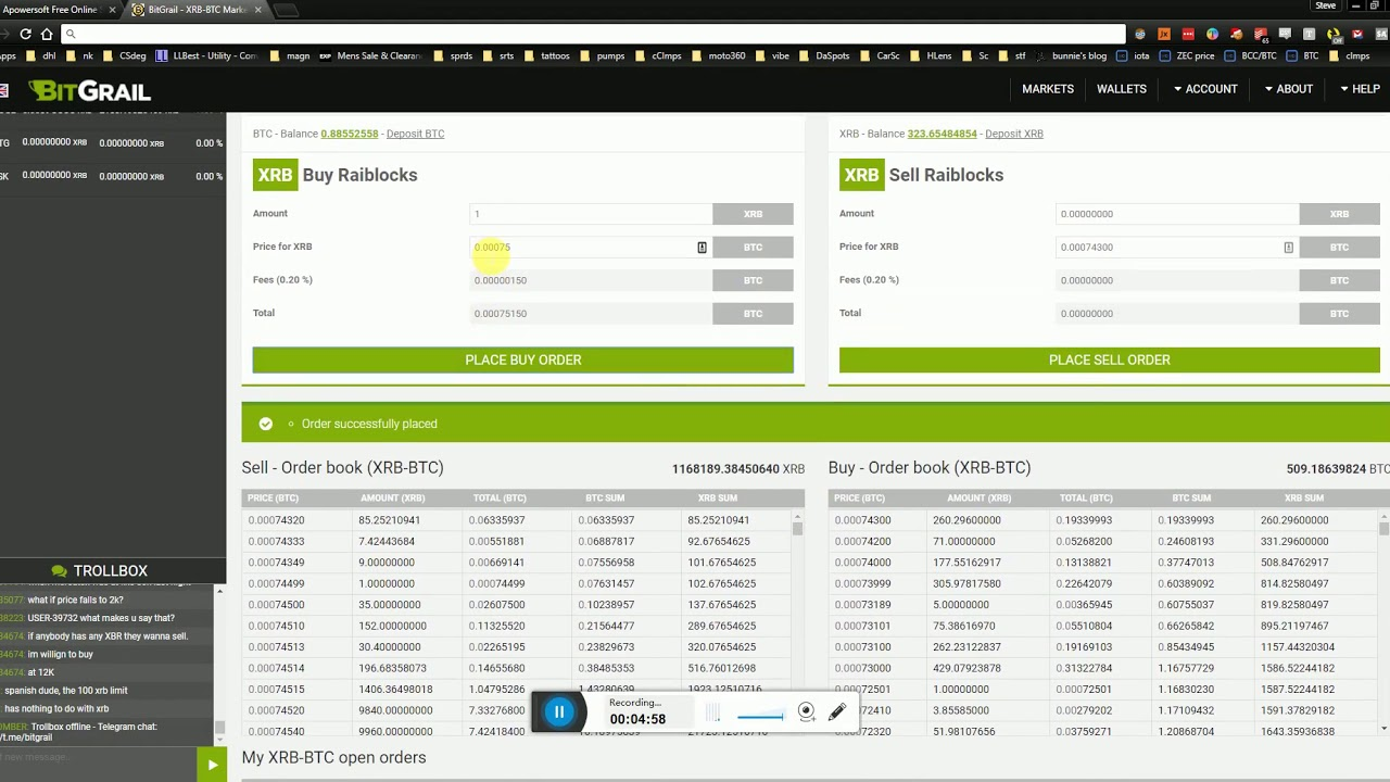 how to trade cryptocurrence on bitgrail