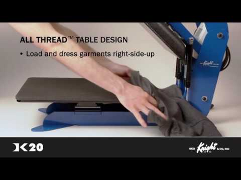 George Knight  DK20 Clamshell Heat Press Overview