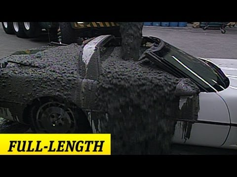 """Stone Cold"" pours cement into Mr. McMahon's corvette"