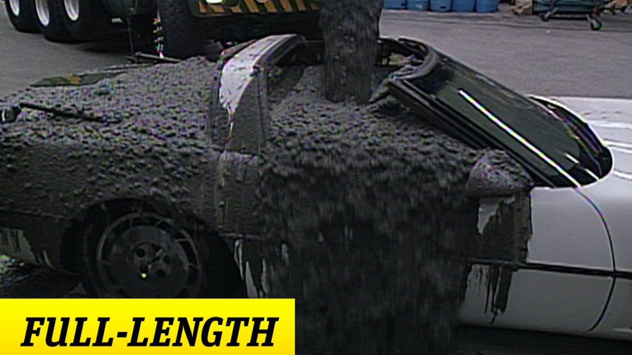 Stone Cold Pours Cement Into Mr Mcmahon 39 S Corvette
