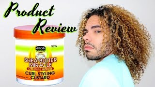 YAY OR NAY ?? African Pride Shea Butter Miracle Moisture Intense Curl Styling Custard Product Review