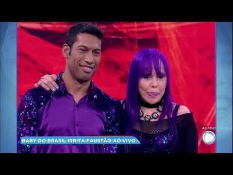 Hora da Venenosa: Baby do Brasil irrita Faustão ao vivo em programa