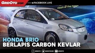 Modifikasi Honda Brio Berlapis Carbon Kevlar Engine Swap Pakai Mesin Honda Jazz