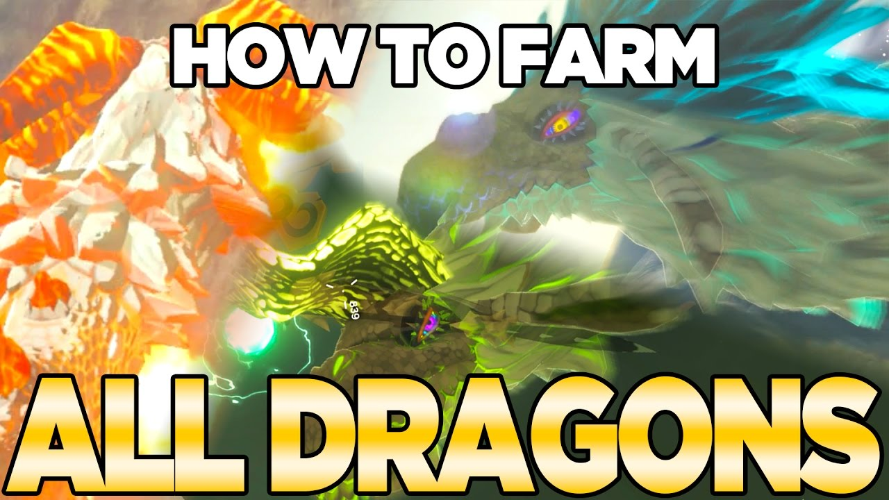 How to Farm all Dragons in Breath of the Wild - Dinraal, Naydra, & Farosh | Austin John Plays