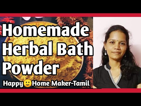 Herbal Bath Powder -  Homemade| Nalungu Maavu | Kuliyal Podi