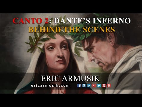Canto 2  Painting Beatrice Visits Virgil in Limbo - Dante's Inferno by Eric Armusik