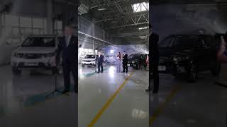 Презентация обновленного GEELY Emgrand X7 на заводе в Борисове