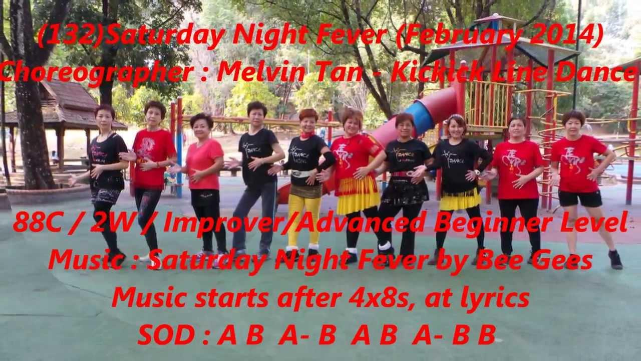 Saturday night fever (orginial line dance) youtube.