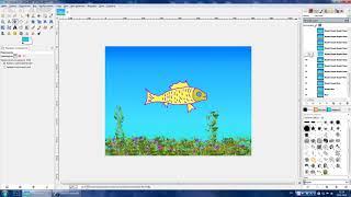 Анимация Gimp - урок №1 (РЫБА)