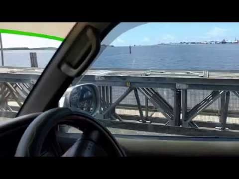 Crossing the Floating Demerara Bridge in Guyana