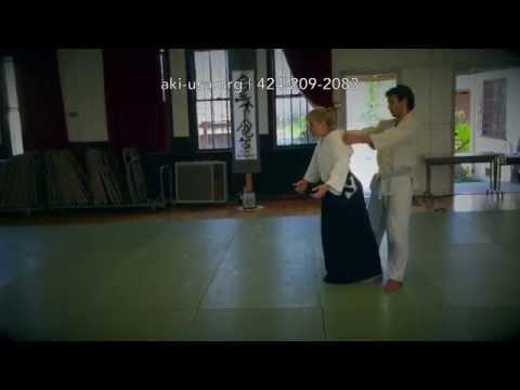 Lia Suzuki, 6th Dan: Aikido Summer Seminar, 2015 (Ushiro Ryokatadori exercise)