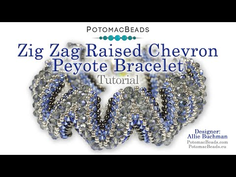 Zig Zag Raised Chevron Peyote Bracelet