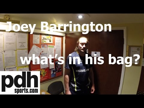 What's in your bag? Interview with squash player and commentator Joey Barrington