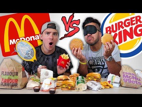 McDONALD'S vs BURGER KING - Puoi indovinare il cibo da BENDATO? (con Penitenza)