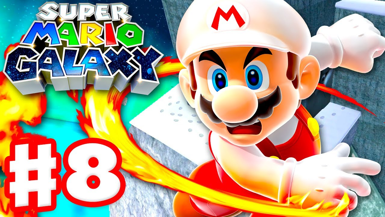 Super Mario Galaxy - Gameplay Walkthrough Part 8 - Freezeflame Galaxy! (Super Mario 3D All Stars)