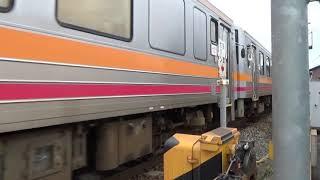 【JR西日本】【津山線】【キハ120形】更新車両 津山駅 周辺踏切撮影