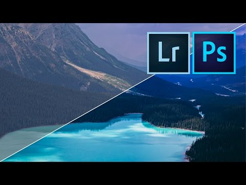 How to edit INCREDIBLE LANDSCAPE PHOTOS with Adobe Lightroom & Photoshop