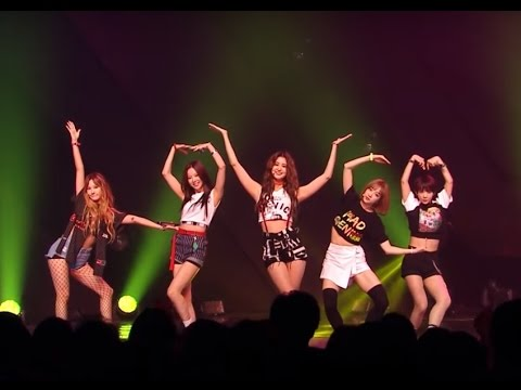 EXID L.I.E All the funny/random part on stage