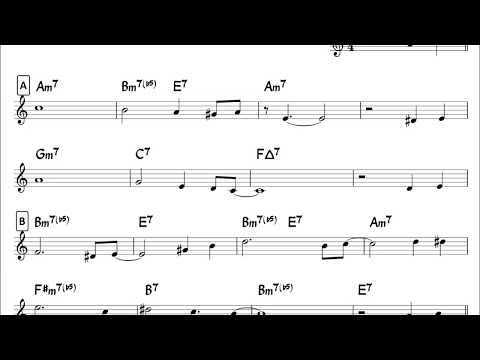 You'd be so nice to come home to - easy solo example for tenor sax