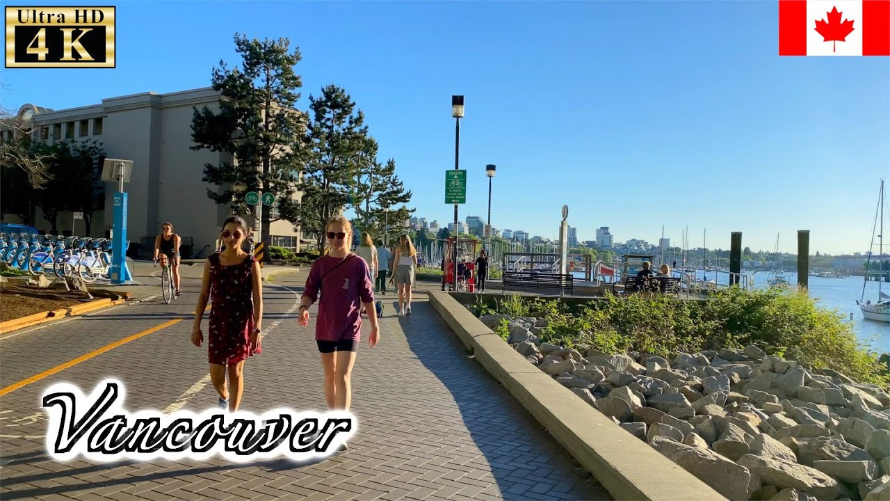 🇨🇦【4K】Vancouver Summer Walk -  Seaside walk from Habitat Island (June, 2021)