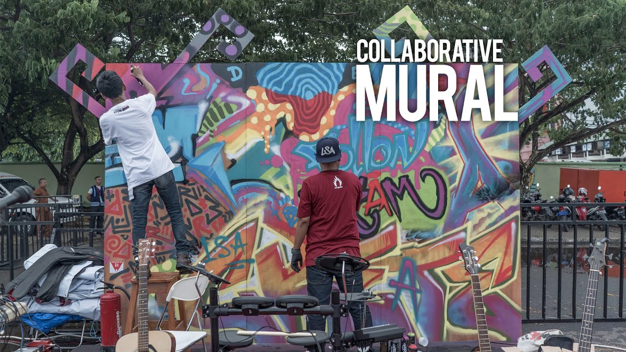 Collaborative mural by go ahead people lampung youtube for Mural alternatywy 4