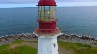 Low Point Lighthouse, Nova Scotia, Canada, via DJI Phantom 3 drone (#LighthouseProject)